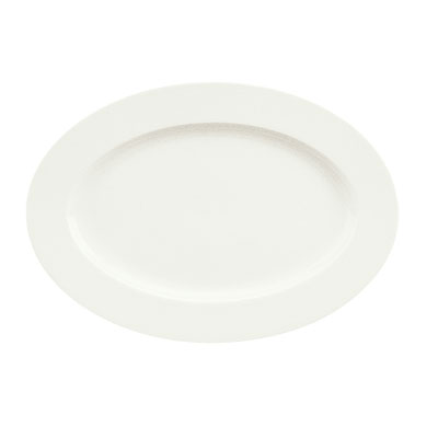 "Schonwald 9132036 14.75"" Porcelain Platter - Fine Dining Pattern, White"