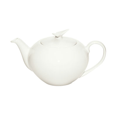 Schonwald 9134550 15-oz Round Teapot w/ Lid, Porcelain, Schonwald, Continental White