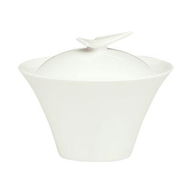 "Schonwald 9134920 4.375"" Round Sugar Bowl w/ Lid, Porcelain, Schonwald, Continental White"