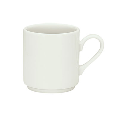 Schonwald 9135120 8-oz Porcelain Cup - Fine Dining Pattern, White
