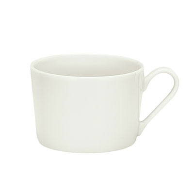 Schonwald 9135174 8-oz Porcelain Cup - Fine Dining Pattern, White