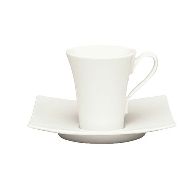 Schonwald 9135360 3.5-oz Porcelain Espresso Cup - Fine Dining Pattern, White