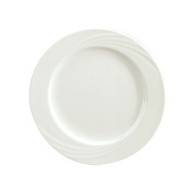 "Schonwald 9180025 10.12"" Porcelain Plate - Donna Pattern, White"