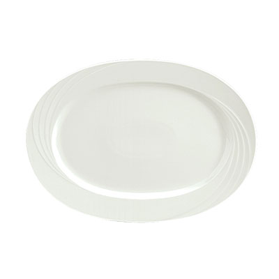 "Schonwald 9182029 11.6x7.5"" Porcelain Platter - Donna Pattern, White"