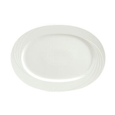 "Schonwald 024-9182033 13.25"" Porcelain Platter - Donna Pattern, White"