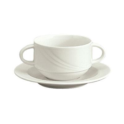 Schonwald 9182730 9.5-oz Porcelain Soup Cup - Donna Pattern, White