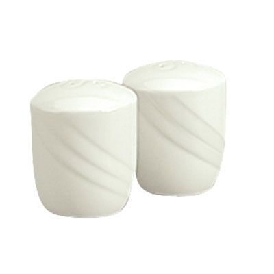 "Schonwald 9184010 2.25"" Porcelain Salt Shaker - Donna Pattern, White"