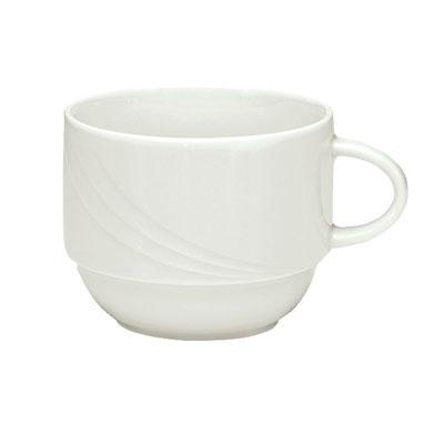 Schonwald 9185125 8.5-oz Porcelain Cup - Donna Pattern, White