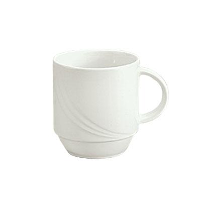 Schonwald 9185628 9.5-oz Porcelain Mug - Donna Pattern, White