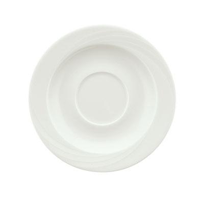 "Schonwald 9186918 6.25"" Porcelain Saucer - Donna Pattern, White"