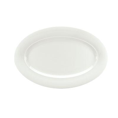 "Schonwald 9192034 12.5"" Porcelain Platter - Avanti Gusto Pattern, White"