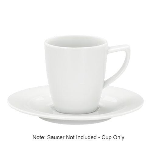Schonwald 9195175 8.5-oz Porcelain Cup, Avanti Gusto Pattern, White