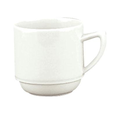 Schonwald 9195628 9.5-oz Porcelain Mug - Avanti Gusto Pattern, White