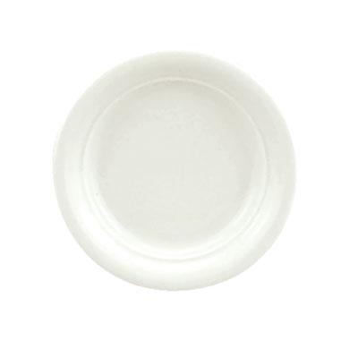 """Schonwald 9195710 4"""" Porcelain Micro Plate - Avanti Gusto Pattern, White"""