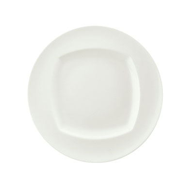 """Schonwald 9320026 10.12"""" Porcelain Plate - Event Pattern, White"""