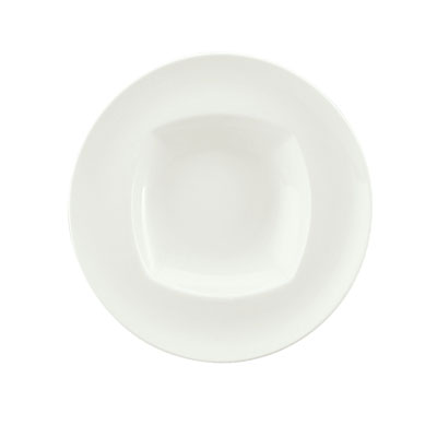 Schonwald 9320130 17-oz Porcelain Pasta Bowl - Event Pattern, White