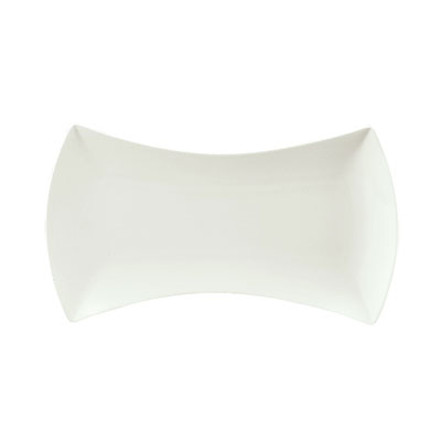 """Schonwald 9322632 12.5"""" Porcelain Tray - Event Pattern, White"""