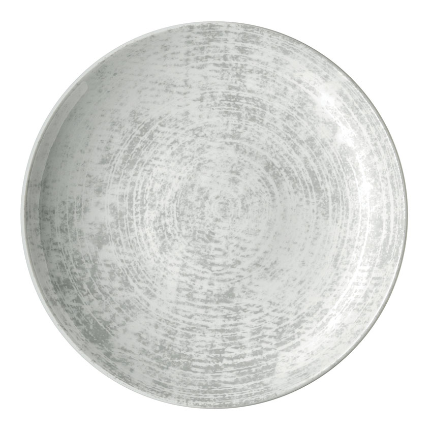 "Schonwald 9331221-63070 7.87"" Shabby Chic Plate - Coupe, Porcelain, Structure Gray"