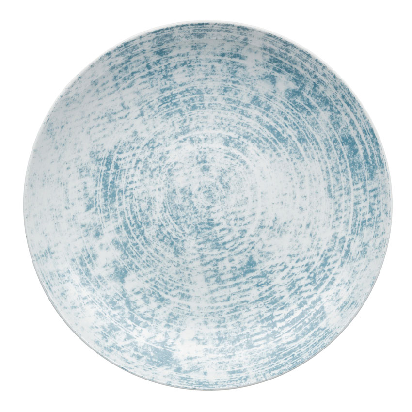 "Schonwald 9331232-63072 12.63"" Shabby Chic Plate - Coupe, Porcelain, Structure Blue"