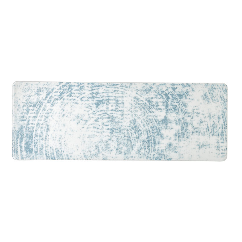 "Schonwald 9332630-63072 Oblong Shabby Chic Platter - 11.75"" x 4.25"", Porcelain, Structure Blue"
