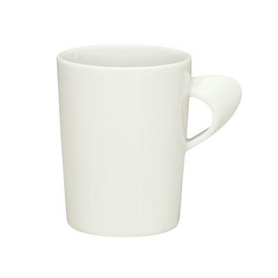 Schonwald 9355275 8.25-oz Porcelain Cup - Creative Complements Pattern, White