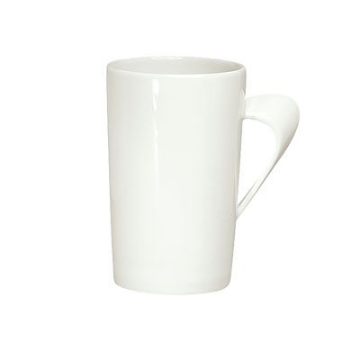 Schonwald 9355280 10.25-oz Porcelain Mug - Creative Complements Pattern, White