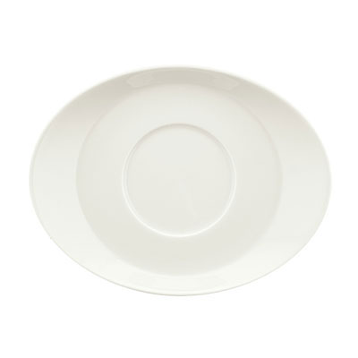"Schonwald 9356918 6.87"" Porcelain Saucer - Creative Complements Pattern, White"