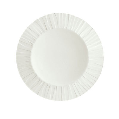 """Schonwald 9360076 10.25"""" Porcelain Plate - Character Pattern, White"""