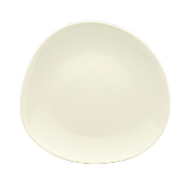 "Schonwald 9381215 6.12"" Round Organic Plate - Porcelain, Wellcome, Duracream White"