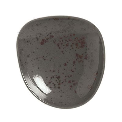 "Schonwald 9381222-63044 8.5"" Round Organic Plate - Porcelain, Pottery Unique, Dark Grey"