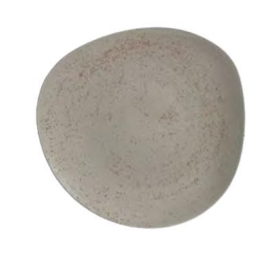 "Schonwald 9381231-63043 12.37"" Round Organic Plate - Porcelain, Pottery Unique, Light Gray"