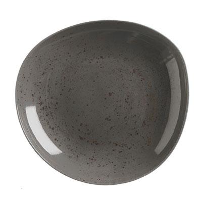 Schonwald 9381328-63044 27 oz Round Organic Bowl - Porcelain, Pottery Unique, Dark Gray