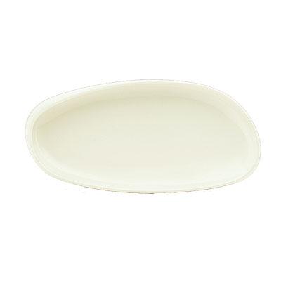 "Schonwald 9382233 15"" Oval Organic Tray - Porcelain, Wellcome, Duracream White"