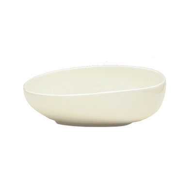 Schonwald 9383167 15.25 oz Free Form Organic Bowl - Porcelain, Wellcome, Duracream White