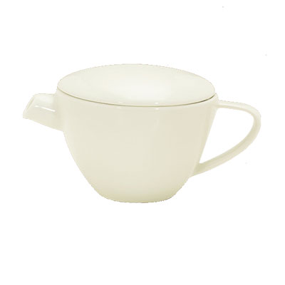 Schonwald 9384335 12 oz Teapot - Porcelain, Wellcome, Duracream White
