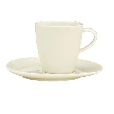 Schonwald 9385274 8 oz Cup - Porcelain, Wellcome, Duracream White