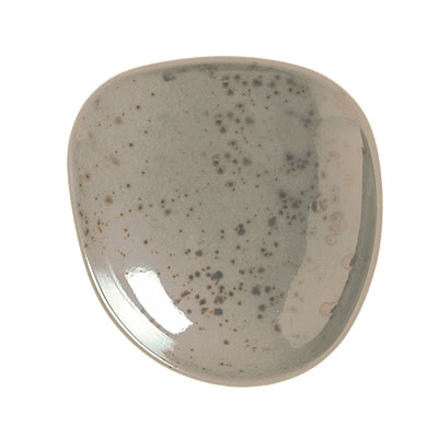 "Schonwald 9385709-63043 3.5"" Round Plate - Porcelain, Pottery Unique, Light Gray"
