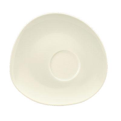 """Schonwald 9386918 6.12"""" Round Saucer - Porcelain, Wellcome, Duracream White"""