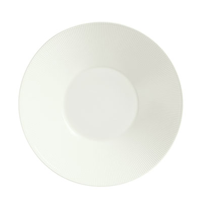 """Schonwald 9400027-62987 10.62"""" Porcelain Plate - Connect Radial Pattern, White"""