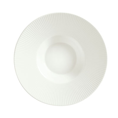 "Schonwald 9400124-62987 9.75"" Porcelain Soup Bowl - Connect Radial Pattern, White"