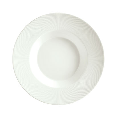 Schonwald 9400128-62987 16-oz Porcelain Pasta Bowl - Connect Radial Pattern, White
