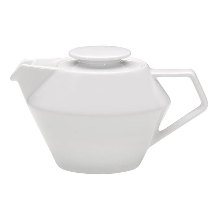 Schonwald 9404340 13.5-oz Connect Teapot - Porcelain, Continental White