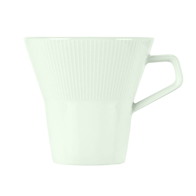 Schonwald 9405275-62987 8.75-oz Porcelain Cup - Connect Radial Pattern, White