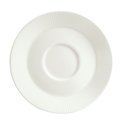 "Schonwald 9406918-62987 6.25"" Porcelain Saucer - Connect Radial Pattern, White"