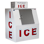 "Leer, Inc. L040SASE 50.5"" Outdoor Slanted Ice Merchandiser w/ (85) 10-lb Bag Capacity - White, 120v"