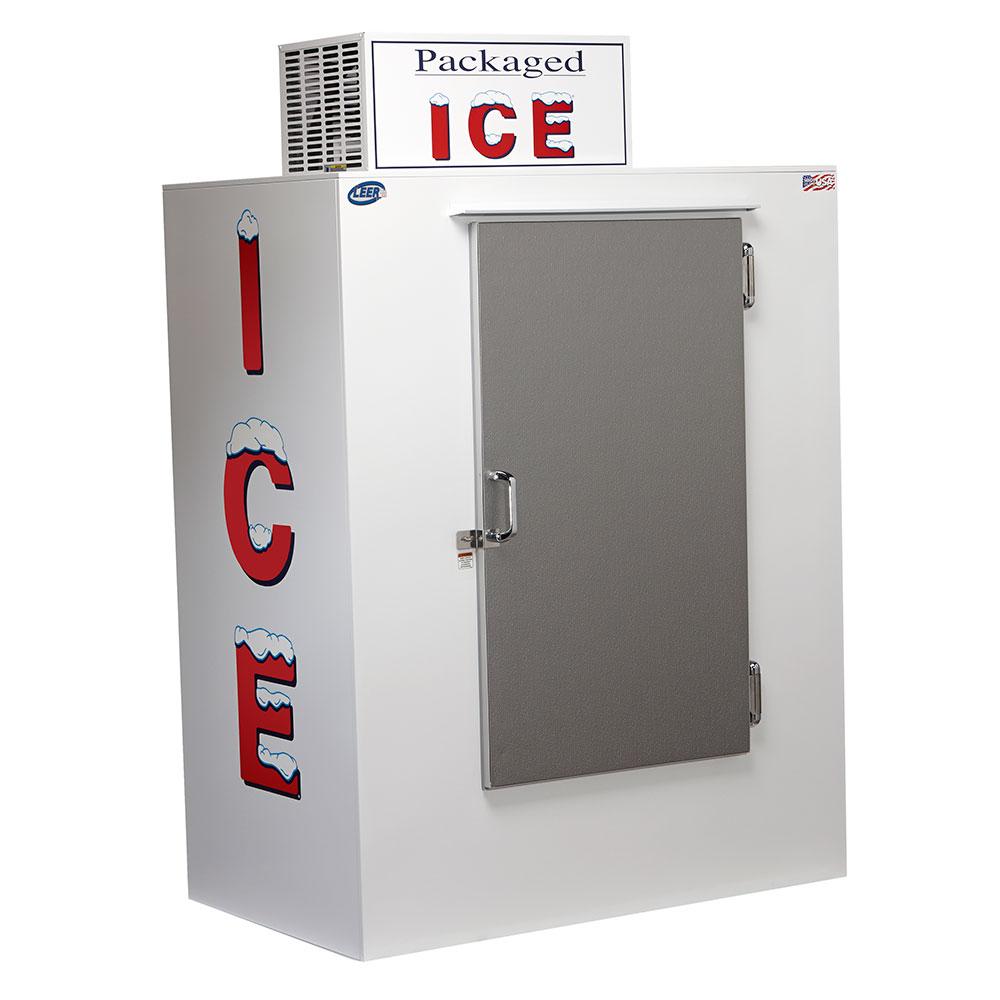 """Leer, Inc. L040UASE 50.5"""" Outdoor Ice Merchandiser w/ (80) 10-lb Bag Capacity - White, 120v"""