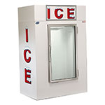 "Leer, Inc. L040UAGE 50.5"" Indoor Ice Merchandiser w/ (85) 10-lb Bag Capacity - White, 120v"
