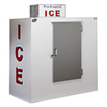 "Leer, Inc. L065UASE 64"" Outdoor Ice Merchandiser w/ (135) 10-lb Bag Capacity - White, 120v"