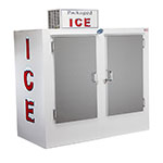 """Leer, Inc. L075UASE 73"""" Outdoor Ice Merchandiser w/ (155) 10-lb Bag Capacity - White, 120v"""