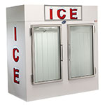 "Leer, Inc. L075UAGE 73"" Indoor Ice Merchandiser w/ (145) 10-lb Bag Capacity - White, 120v"
